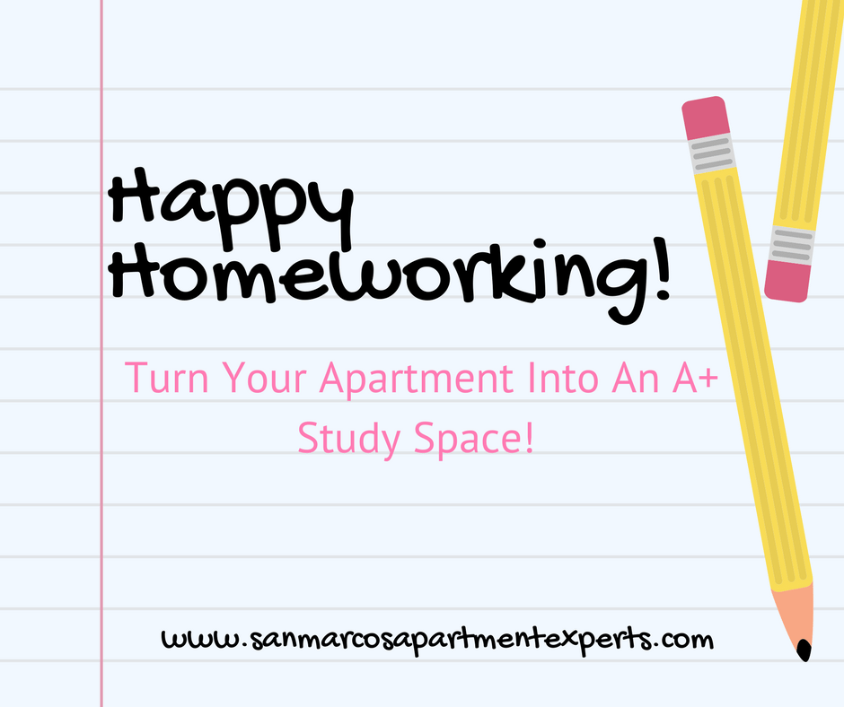 Make Your Apartment An A+ Study Spot!